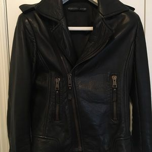 Balenciaga Leather Jacket, Brass Zippers, 40